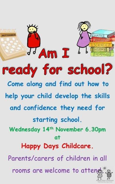 School Readiness  Information Evening