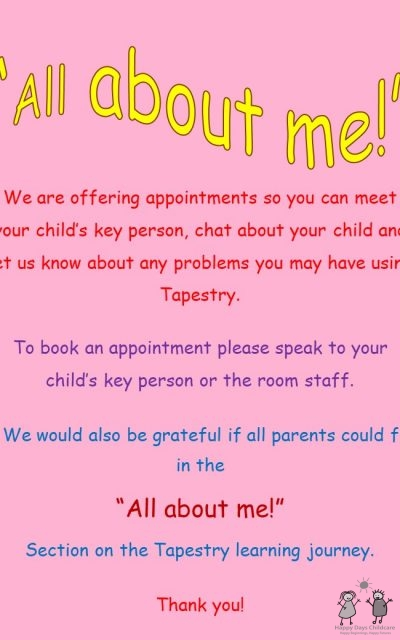 """""""All About Me!"""" appointments"""
